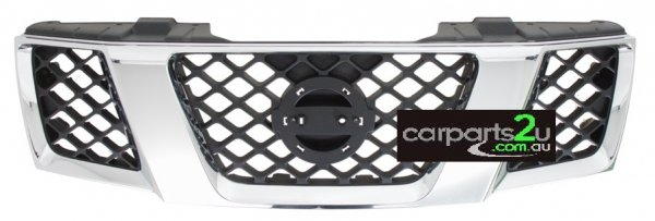 TO SUIT NISSAN NAVARA D40T UTE *THAI BUILD MNT*  GRILLE   - BRAND NEW CHROME AND BLACK GRILLE TO SUIT NISSAN NAVARA D40M UTE MODELS BETWEEN 5/2005 - CURRENT (SUITS BOTH SPAIN BUILT AND THAI BUILT MODELS)