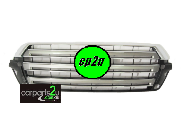 TO SUIT TOYOTA LANDCRUISER 200 SERIES  GRILLE   - BRAND NEWGENUINE TOYOTAFRONT GRILLE W/PRE-CRASH W/O CAMERATO SUIT TOYOTA LANDCRUISER 200 SERIESGXL VX MODEL BETWEEN 10/2015-CURRENT  *NO CAMERA TYPE*  *WITH PRE-CRASH SENSOR TYPE*  *CHROME*  *FOR GXL AND VX MODELS*  - New quality car parts & auto spares online Australia wide with the convenience of shopping from your own home. Carparts 2U Penrith Sydney