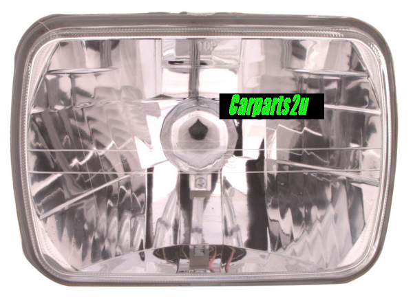 TO SUIT TOYOTA HILUX HILUX UTE 4WD  HEAD LIGHT  LEFT/RIGHT - BRAND NEW H4 CRYSTAL LENS TYPE HEAD LIGHT TO SUIT ALL TOYOTA HILUX 2WD/4WD MODELS BETWEEN 10/1983-2/2005