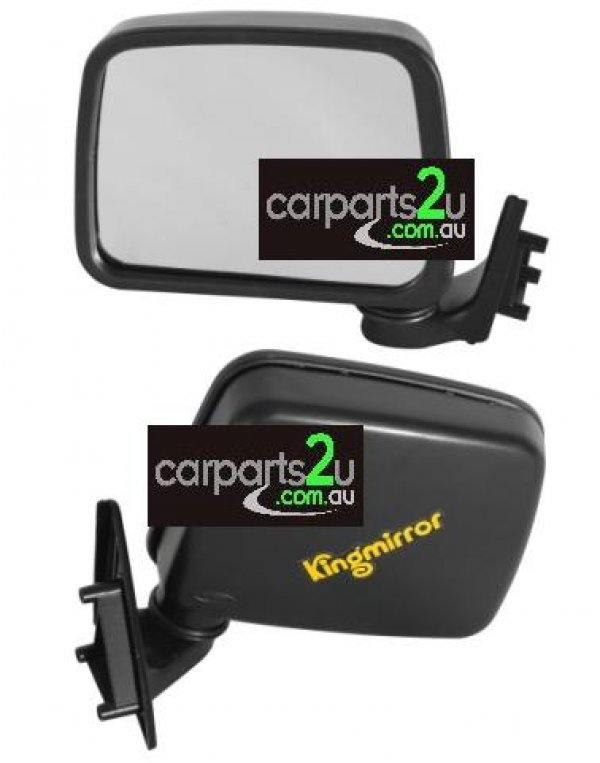 TO SUIT MAZDA B SERIES UTE / BRAVO B SERIES UTE UF  FRONT DOOR MIRROR  LEFT - BRAND NEW LEFT HAND SIDE FRONT DOOR MIRROR (BLACK MANUAL SAIL MOUNT TYPE) TO SUIT MAZDA BRAVO / B SERIES UF /2000/2200/2500/2600 UTE MODELS BETWEEN 6/1985-12/1998