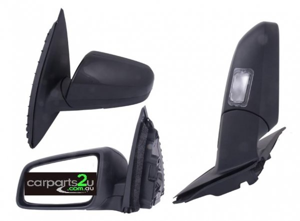 FRONT DOOR MIRROR LEFT LEFT HAND SIDE FRONT DOOR MIRROR TO SUIT HOLDEN COMMODORE SERIES 1/2 MODELS BETWEEN 8/2006-5/2013  ELECTRIC BLACK TYPE (WITH PUDDLELAMP/INDICATOR)  - Open 24hrs 365 days a year - our commitment is to provide new quality spare car parts nationally with the convenience of our online auto parts shopping store in the privacy of your own home.