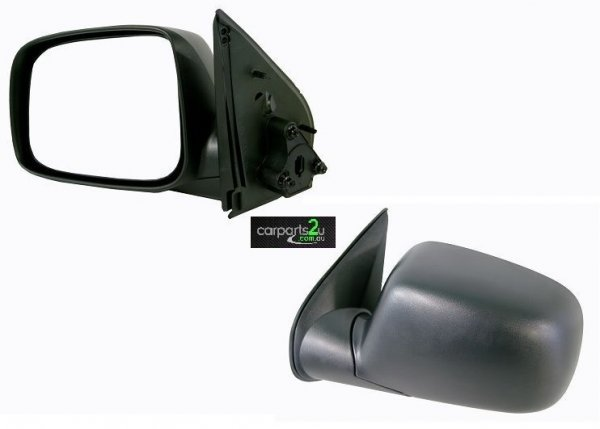 TO SUIT HOLDEN COLORADO COLORADO UTE RC  FRONT DOOR MIRROR  LEFT - BRAND NEW LEFT HAND SIDE MANUAL BLACK DOOR MIRROR TO SUIT HOLDEN COLORADO RC (06/2008-05/2012)