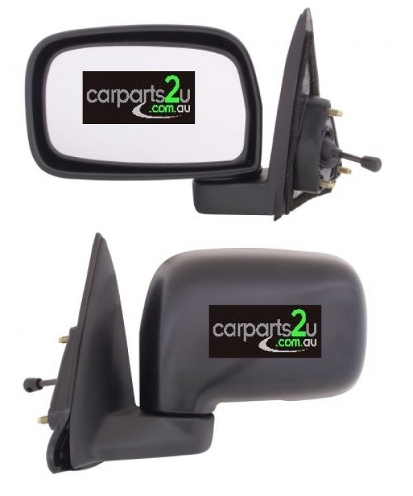 TO SUIT TOYOTA STARLET EP91  FRONT DOOR MIRROR  LEFT - BRAND NEWLEFT HAND SIDE MANUAL FRONT DOOR MIRROR TO SUIT TOYOTA STARLET EP91 (01/1996-01/1999)  GENUINE TOYOTA  - New quality car parts & auto spares online Australia wide with the convenience of shopping from your own home. Carparts 2U Penrith Sydney