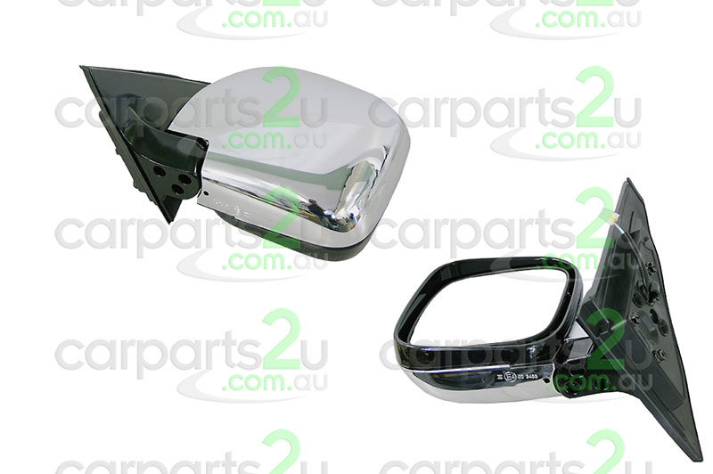 TO SUIT MITSUBISHI PAJERO NM  FRONT DOOR MIRROR  LEFT - BRAND NEW LEFT HAND SIDE FRONT CHROME ELECTRIC DOOR MIRROR TO SUIT MITSUBISHI PAJERO NM/NP (05/2000-06/2006)