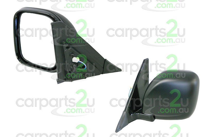 TO SUIT MITSUBISHI PAJERO NM  FRONT DOOR MIRROR  LEFT - BRAND NEW LEFT HAND SIDE FRONT BLACK ELECTRICDOOR MIRROR TO SUIT MITSUBISHI PAJERONM/NP (05/2000-06/2006)  - New quality car parts & auto spares online Australia wide with the convenience of shopping from your own home. Carparts 2U Penrith Sydney