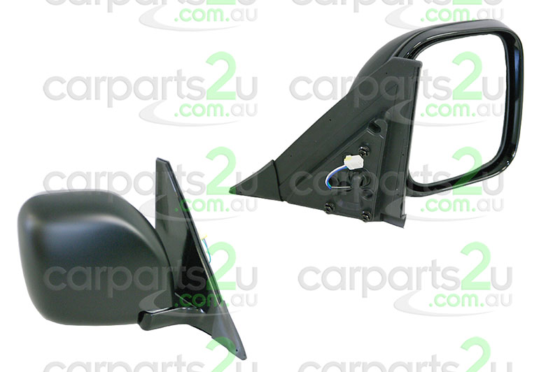 TO SUIT MITSUBISHI PAJERO NM  FRONT DOOR MIRROR  RIGHT - BRAND NEW RIGHT HAND SIDE FRONT BLACK ELECTRICDOOR MIRROR TO SUIT MITSUBISHI PAJERONM/NP (05/2000-06/2006)  - New quality car parts & auto spares online Australia wide with the convenience of shopping from your own home. Carparts 2U Penrith Sydney