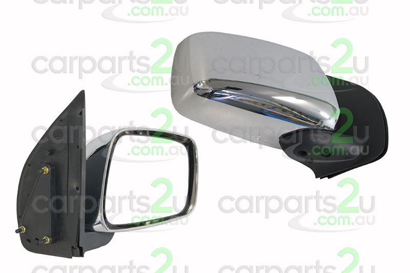TO SUIT NISSAN NAVARA D40M UTE *SPANISH BUILD VSK*  FRONT DOOR MIRROR  RIGHT - BRAND NEW RIGHT HAND SIDE FRONT DOOR MIRROR CHROME MANUAL TO SUIT NISSAN NAVARA D40 (05/2005-01/2015)