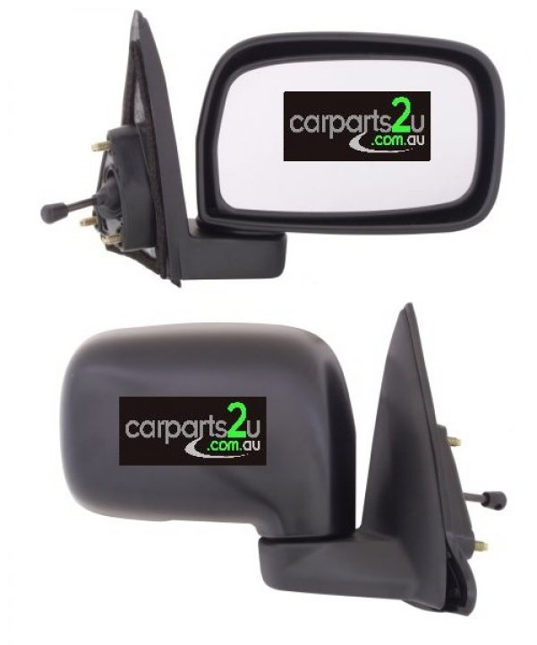 TO SUIT TOYOTA STARLET EP91  FRONT DOOR MIRROR  RIGHT - BRAND NEW RIGHT HAND SIDE MANUAL FRONT DOOR MIRROR TO SUIT TOYOTA STARLET EP91 (01/1996-01/1999)
