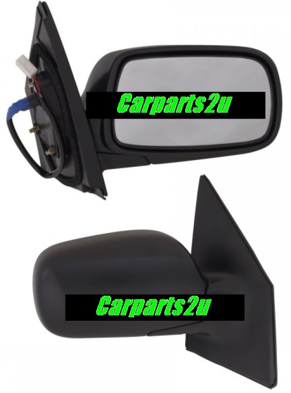 TO SUIT TOYOTA ECHO ECHO SEDAN  FRONT DOOR MIRROR  RIGHT - BRAND NEW RIGHT HAND SIDE DOOR MIRROR TO SUIT TOYOTA ECHO HATCH MODELS BETWEEN 3/1999 - 8/2005  - New quality car parts & auto spares online Australia wide with the convenience of shopping from your own home. Carparts 2U Penrith Sydney
