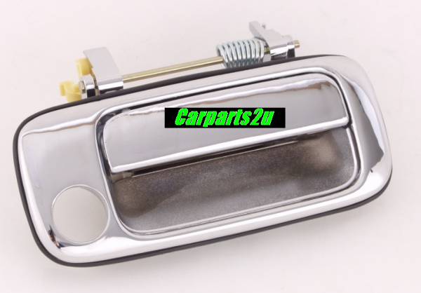 TO SUIT TOYOTA LANDCRUISER 80 SERIES  DOOR HANDLE  RIGHT - BRAND NEW RIGHT HAND SIDE FRONT OUTER DOOR HANDLE CHROME TO SUIT TOYOTA LANDCRUISER 80 SRS MODELS BETWEEN 1/1990-1/1998