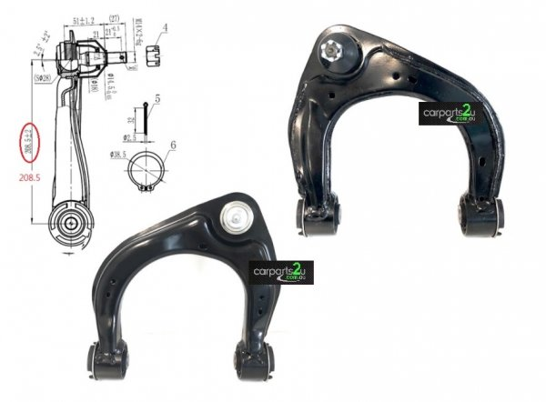 TO SUIT FORD RANGER RANGER UTE PX SERIES 3  UPPER CONTROL ARM  RIGHT - BRAND NEW FRONT RIGHT UPPER CONTROL ARM WITH BALL JOINT TO SUIT FORD RANGER PX 1/2/3 2WD MODEL BETWEEN 09/2011-CURRENT