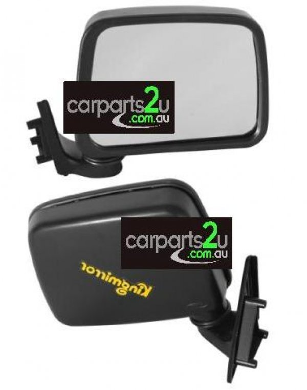 TO SUIT MAZDA B SERIES UTE / BRAVO B SERIES UTE UF  FRONT DOOR MIRROR  RIGHT - BRAND NEW RIGHT HAND SIDE FRONT DOOR MIRROR (BLACK MANUAL SAIL MOUNT TYPE) TO SUIT MAZDA BRAVO / B SERIES UF /2000/2200/2500/2600 UTE MODELS BETWEEN 6/1985-12/1998 