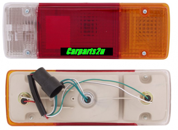 TO SUIT TOYOTA LANDCRUISER 70 SERIES  TAIL LIGHT  LEFT/RIGHT - BRAND NEW TRAY TYPE TAIL LIGHT TO SUIT TOYOTA LANDCRUISER 70 SERIES UTILITY MODELS BETWEEN 11/1984-8/1999  TRAY TYPE TAIL LIGHTWITH ROUNDPLUG  - New quality car parts & auto spares online Australia wide with the convenience of shopping from your own home. Carparts 2U Penrith Sydney