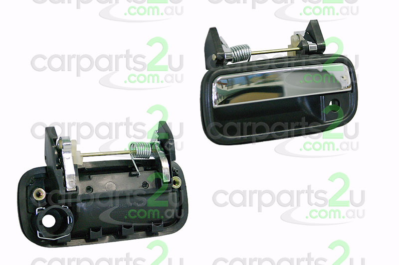 TO SUIT TOYOTA HILUX HILUX UTE 4WD  DOOR HANDLE  LEFT - BRAND NEW CHROME/BLACKLEFT FRONT OUTER DOOR HANDLE TO SUIT TOYOTAHILUX2WD/4WD MODLES BETWEEN10/88-8/97  - New quality car parts & auto spares online Australia wide with the convenience of shopping from your own home. Carparts 2U Penrith Sydney