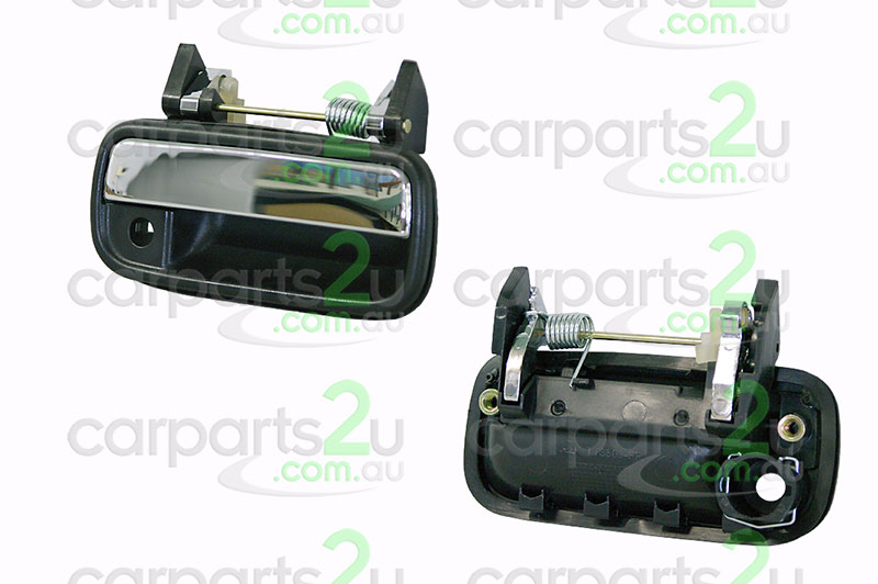 TO SUIT TOYOTA HILUX HILUX UTE 4WD  DOOR HANDLE  RIGHT - BRAND NEW CHROME/BLACKRIGHT FRONT OUTER DOOR HANDLE TO SUIT TOYOTAHILUX2WD/4WD MODLES BETWEEN10/88-8/97  - New quality car parts & auto spares online Australia wide with the convenience of shopping from your own home. Carparts 2U Penrith Sydney