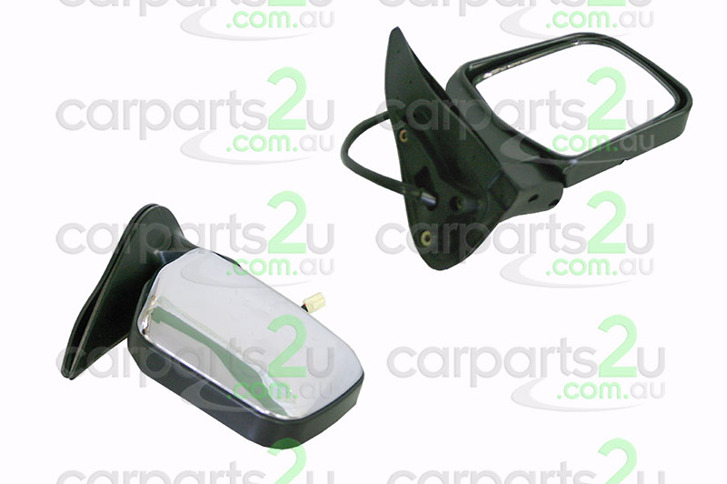 TO SUIT TOYOTA HILUX HILUX UTE 2WD  FRONT DOOR MIRROR  RIGHT - BRAND NEW RIGHTHAND SIDE FRONT DOOR MIRROR TO SUIT TOYOTAHILUX2WD/4WD MODELS BETWEEN8/97-2/05 BLACK BASE WITHCHROME MIRROR COVER (ELECTRICTYPE DOOR MIRROR)  - New quality car parts & auto spares online Australia wide with the convenience of shopping from your own home. Carparts 2U Penrith Sydney