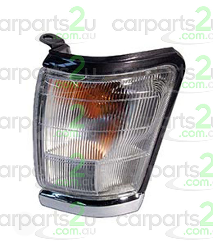 TO SUIT TOYOTA HILUX HILUX UTE 4WD  FRONT CORNER LIGHT  LEFT - BRAND NEW LEFT HAND SIDE FRONT CORNER LIGHT TO SUIT TOYOTA HILUX 2WD/4WD MODELS BETWEEN 8/1997-9/2001ONLY(SILVER/GREY TOP WITH CHROME BOTTOM SURROUND)  - New quality car parts & auto spares online Australia wide with the convenience of shopping from your own home. Carparts 2U Penrith Sydney