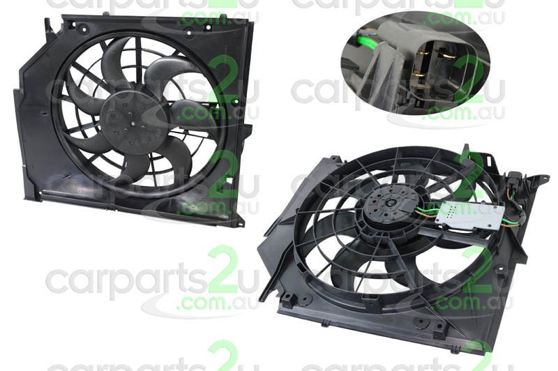 To suit BMW 3 SERIES A4 B6  RADIATOR FAN ASSEMBLY - New quality car parts & auto spares online Australia wide with the convenience of shopping from your own home. Carparts 2U Penrith Sydney