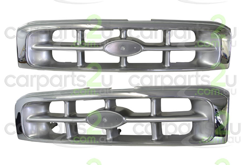TO SUIT FORD COURIER PE  GRILLE  NA - BRAND NEW CHROME AND SILVER GRILLE TO SUIT FORD COURIER PE (01/1999-10/2002)