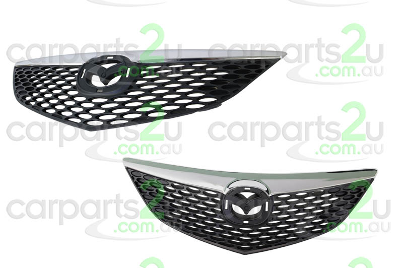 TO SUIT MAZDA MAZDA 3 MAZDA 3 BK  GRILLE  NA - BRAND NEW CHROME/BLACK GRILLE TO SUIT MAZDA 3 BK HATCH (EXCLUDES SP23 MODELS) BETWEEN 01/2004 ~ 05/2006  - New quality car parts & auto spares online Australia wide with the convenience of shopping from your own home. Carparts 2U Penrith Sydney