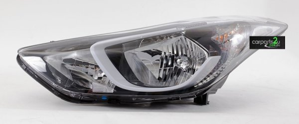 HYUNDAI ELANTRA ELANTRA MD  HEAD LIGHT - New quality car parts & auto spares online Australia wide with the convenience of shopping from your own home. Carparts 2U Penrith Sydney