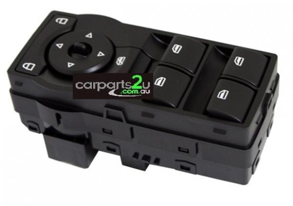 TO SUIT HOLDEN COMMODORE VE SERIES 2  WINDOW SWITCH  NA - BRAND NEW BLACK BASE MASTER POWER WINDOW SWITCH (RED ILLUMINATION TYPE ) TO SUIT HOLDEN COMMODORE VE SERIES 1/2 MODELS BETWEEN 8/2006-5/2013