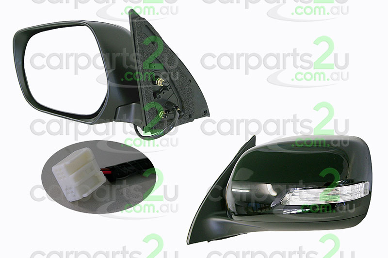 TOYOTA PRADO PRADO 120 SERIES  FRONT DOOR MIRROR - New quality car parts & auto spares online Australia wide with the convenience of shopping from your own home. Carparts 2U Penrith Sydney