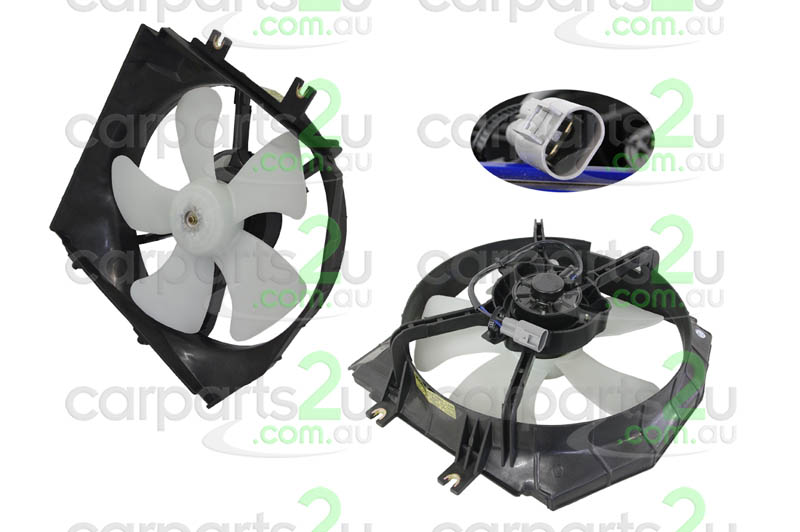 MAZDA 323 BJ PROTEGE / ASTINA  RADIATOR FAN ASSEMBLY - New quality car parts & auto spares online Australia wide with the convenience of shopping from your own home. Carparts 2U Penrith Sydney