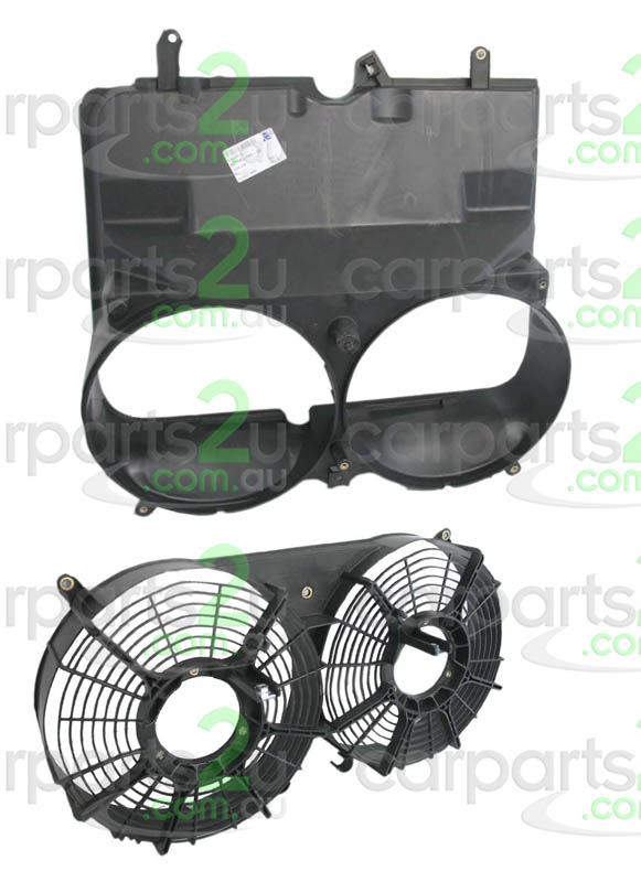 TO SUIT TOYOTA HIACE HIACE VAN  FAN SHROUD  NA - BRAND NEW RADIATOR FAN SHROUD DUAL TO SUIT TOYOTA HIACE VAN (01/2005-12/2013)