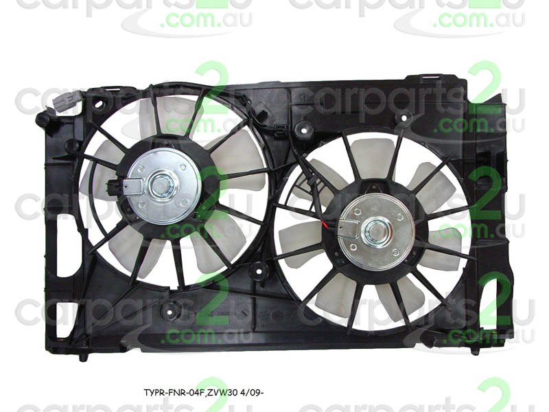 TOYOTA PRIUS PRIUS NHW20 HATCH  RADIATOR FAN ASSEMBLY - New quality car parts & auto spares online Australia wide with the convenience of shopping from your own home. Carparts 2U Penrith Sydney
