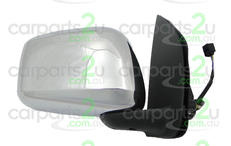 To suit NISSAN PATHFINDER R51  FRONT DOOR MIRROR - New quality car parts & auto spares online Australia wide with the convenience of shopping from your own home. Carparts 2U Penrith Sydney